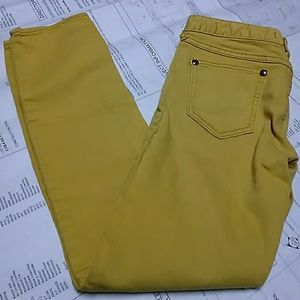 Free People Skinny Jeans Size 26 Mustard Yellow
